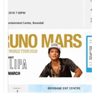 Wtb X Bruno Mars Tickets Brisbane