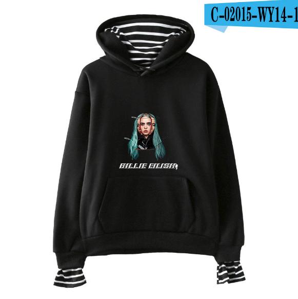 New Billie Eilish Kapuzenpullover Women Hoodie Sweatshirt Fake two-piece sweater