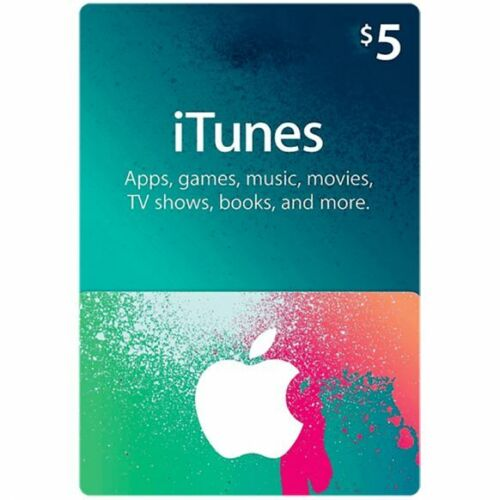 iTunes Gift Card $5 US USD Apple | App Store Key Code | American USA | iPhone