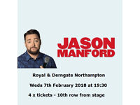 Jason Manford MUDDLE CLASS tickets x 4 **Royal & Derngate Northampton** Weds 7th Feb 2018