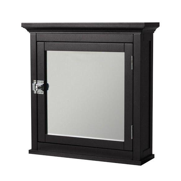 Madison Avenue Wall Mount Medicine Cabinet w 1 Mirror Door f