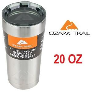 NEW OZARK TRAIL SS TRAVEL MUG 20 OZ 201503839 STAINLESS STEEL SILVER THERMOS DOUBLE WALL VACUUM TUMBLER