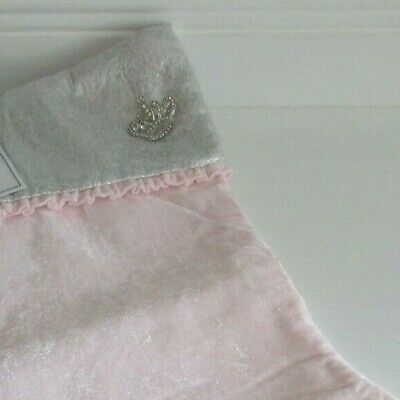 SIMPLY SHABBY CHIC CHRISTMAS STOCKING PINK VELVET WTH SILVER TOP AND CROWN ()