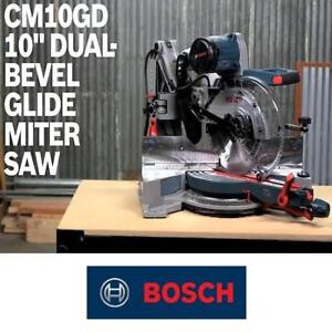 """NEW* BOSCH 10"""" SLIDING MITER SAW CM10GD 176833112 DUAL BEVEL 15 AMP CORDED SAWS WOODCUTTING WOODWORKING CUTTING POWER..."""