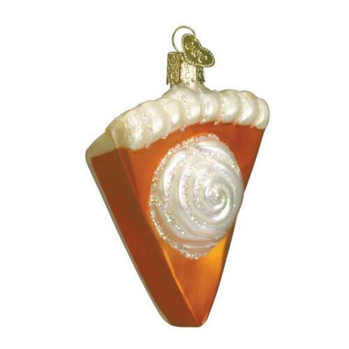 OLD WORLD CHRISTMAS Pumpkin Pie Glass Ornament 32019 NWT