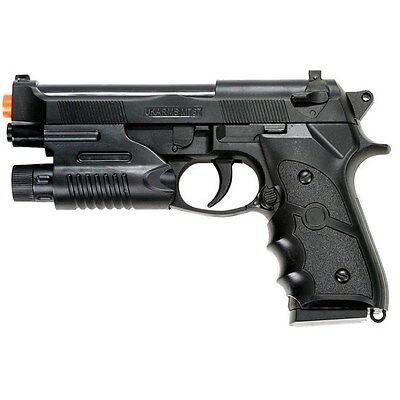 Airsoft Spring Air Pistols - AIRSOFT SPRING HAND GUN PISTOL M9 92 FS BERETTA AIR w/ LASER SIGHT 6mm BB BBs
