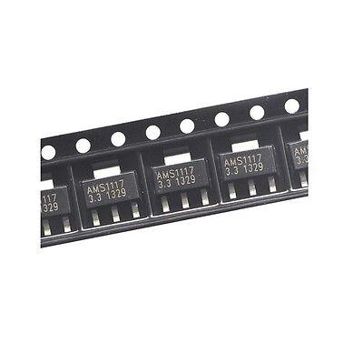 100pcs Ams1117-3.3 Lm1117 1a 3.3v Sot-223 Voltage Regulator