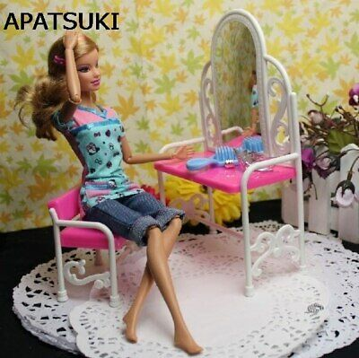 Funny Dresses For Girls (Nice Gift Funny Doll Toys For Baby Girls Play House Dressing Table With Chairs)