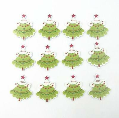 DIY Wooden Christmas Tree Button decoration holiday Fit Sewing Scrapbooking 35mm - Christmas Tree Costume Diy