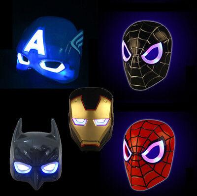 Iron Man Light Up Mask (Avengers Iron Man LED Mask Light Up Cosplay Custome Accs Party Christmas)