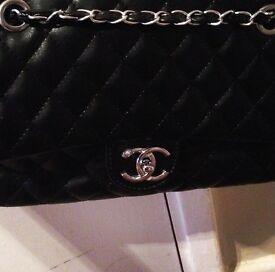 Black Leather Chanel Bag