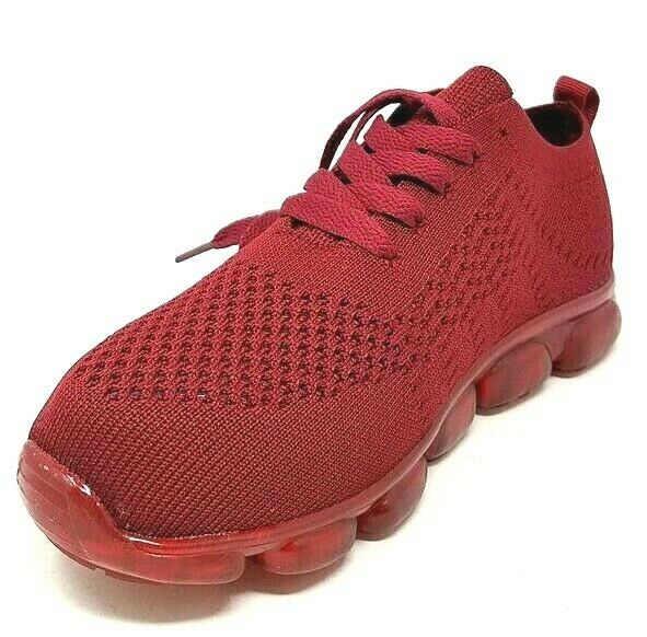 Women Burgundy Sneakers Gym Sports Running Air Cushion Shoes