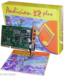 ISA 16bit Sound Card. Chip YMF718-S. Yamaha Audician 32 plus