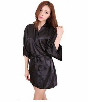 Women's Robe Silk Kimono Elegant Floral Flower Soft Satin Bride Bathrobe - Trendy Robes