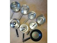 7 saucepans plus wok