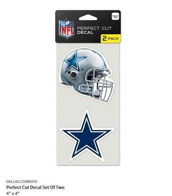 Dallas Cowboys 2 Aufkleber Helm + Logo Decal Badge Emblem NFL Football ()
