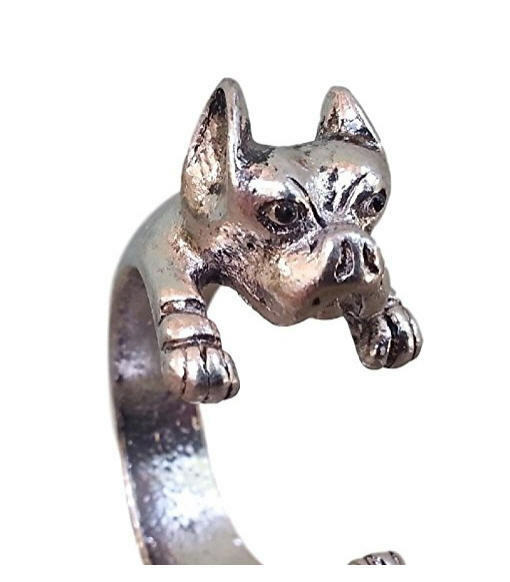Pitbull Terrier Staffordshire Unisex Adjustable Ring by Pashal O/S Fits Most