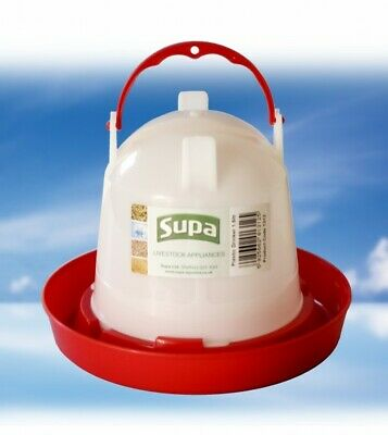 POULTRY DRINKER: SUPA Bird Drinker Small 1.5 Litre for Chicken / Quail / Aviary