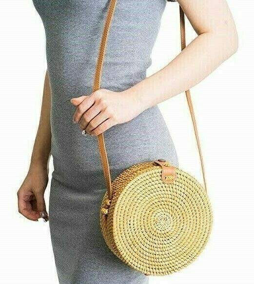 Rattan Bags for Women - Handmade Wicker Woven Purse Handbag