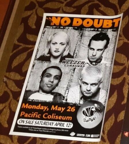 NO DOUBT WEEZER ORIGINAL CONCERT POSTER VANCOUVER MAY 26TH, 1997 GREAT!
