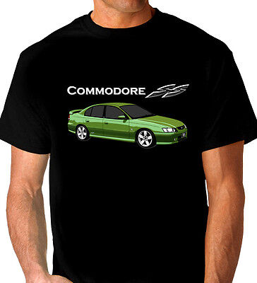 HOLDEN  VY  SS COMMODORE  QUALITY BLACK TSHIRT    4  CAR COLOURS  ALL SIZES