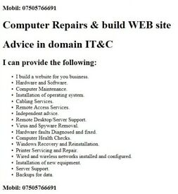 Computer Repairs & build WEB site & Advice in domain IT&C