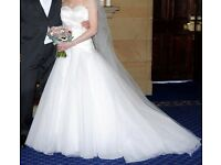 Ivory Wedding Dress (Mark Lesley), Size 8.