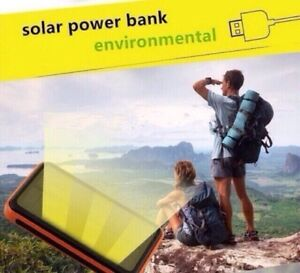 NEW Solar Power Charger/Bank for recharging iPhone etc