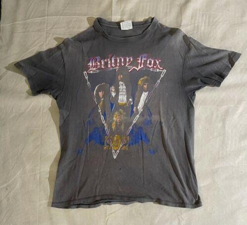 Vintage BRITNY FOX ROCK REVOLUTION Tour 1988 Original T Shirt Size L