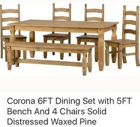 CORONA PINE LARGE DINING FURNITURE SET