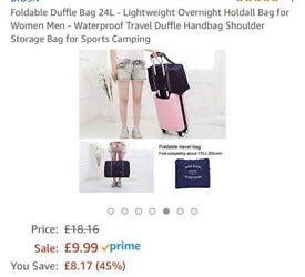 24l foldaway duffle bag brand new