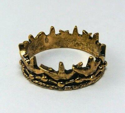 - Game of Thrones Baratheon Crown RING Sz 10 replica (Daenerys Jon Snow Season)