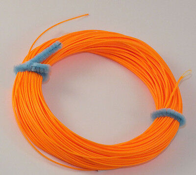 FLY LINE Weight Forward Floating 7WT Loop end, ORANGE, slick finish 85' LN436 (Weight Forward Floating)