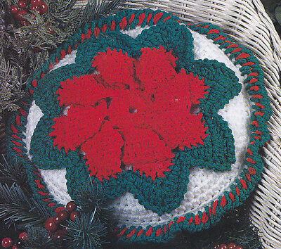 Crochet Pattern ~ CHRISTMAS POINSETTIA PILLOW ~ Instructions