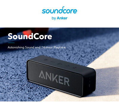 Anker Soundcore Bluetooth Speaker with Loud Stereo Sound, Better Bass 24-Hour