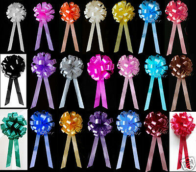 10 PULL BOWS RIBBON DECORATIONS WEDDING PEW ...