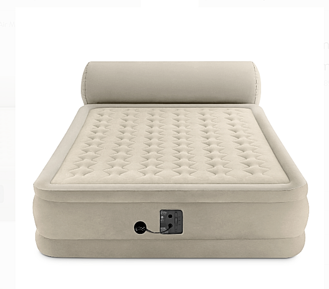 Intex Queen Ultra Plush Dura Beam Deluxe Airbed with Built i