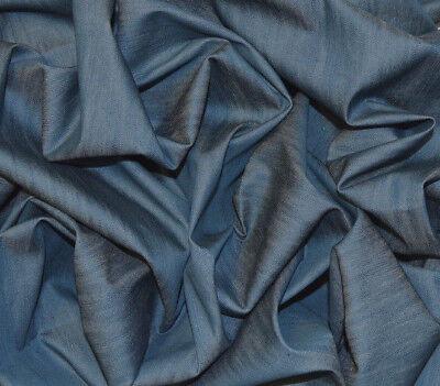 8oz INDIGO BLUE STRETCH SOFT DENIM FABRIC RING SPUN JEANS MATERIAL BY THE METRE ()