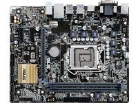 motherboard + processor + ram + graphics card