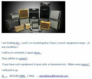 Wanted ! old guitar / bass amps , sound gear !