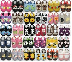 MiniShoeZoo-Chaussons-bebe-CHAUSSURES-CUIR-SOUPLE-POUR