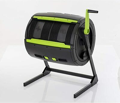 RSI-MAZE 65 Gal Two Stage Tumbling Composter - Black Green - FREE SHIPPING