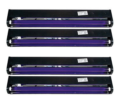 "4 AMERICAN DJ BLACK-24BLB 24"" UV Black Pro Blacklight Dorm Party Light Fixtures"