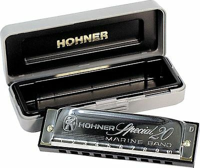 HOHNER 560 SPECIAL 20 HARMONICA KEY OF C + FREE MINI HARP + INSTRUCTION BOOKLET! on Rummage