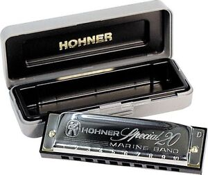 HOHNER SPECIAL 20 HARMONICA KEY OF C + FREE MINI HARP + INSTRUCTIONAL BOOKLET!