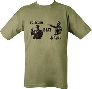 Military-Printed-Scissors-Beat-Paper-T-Shirt-Green