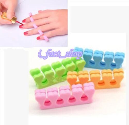20pcs Beauty Nail Art Salon Soft Finger Toe Separator Pedicure Manicure Tool IFA 3