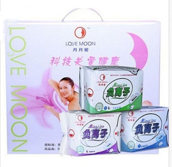 282*piece (19*Packages) Lovemoon/Qiray Anion Sanitary napkin Sanitary towels
