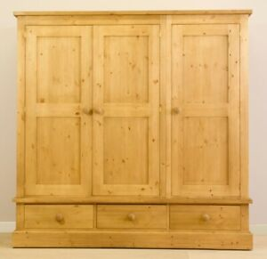 SOLID PINE TRIPLE DOOR ARMOIRE !  SAVE  $  500  !
