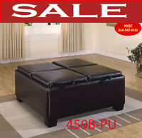 Model 459B-PU, ottoman, storage benches